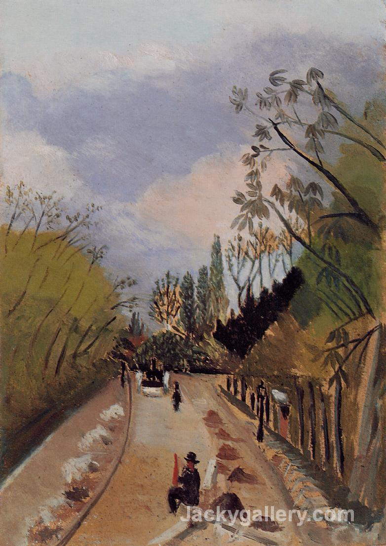 Avenue de l Observatoire by Henri Rousseau paintings reproduction