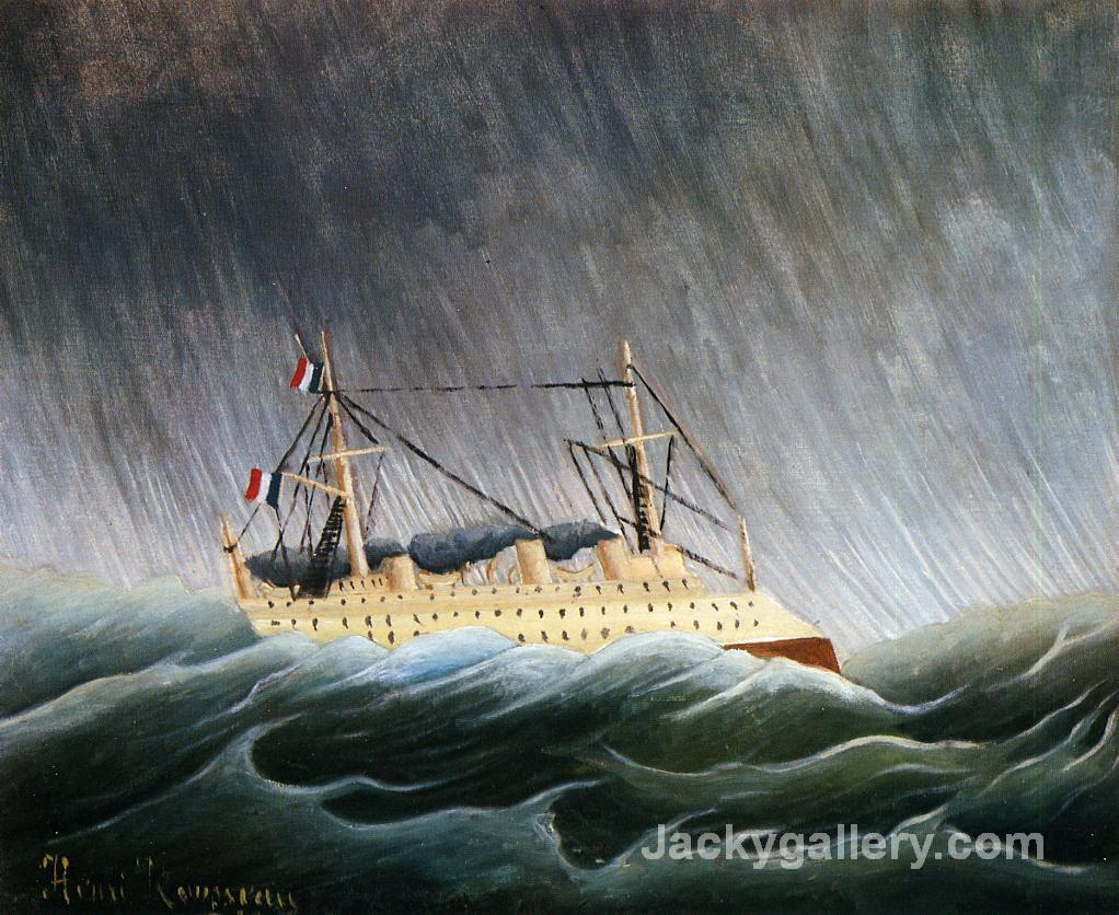 Boat in a Storm by Henri Rousseau paintings reproduction