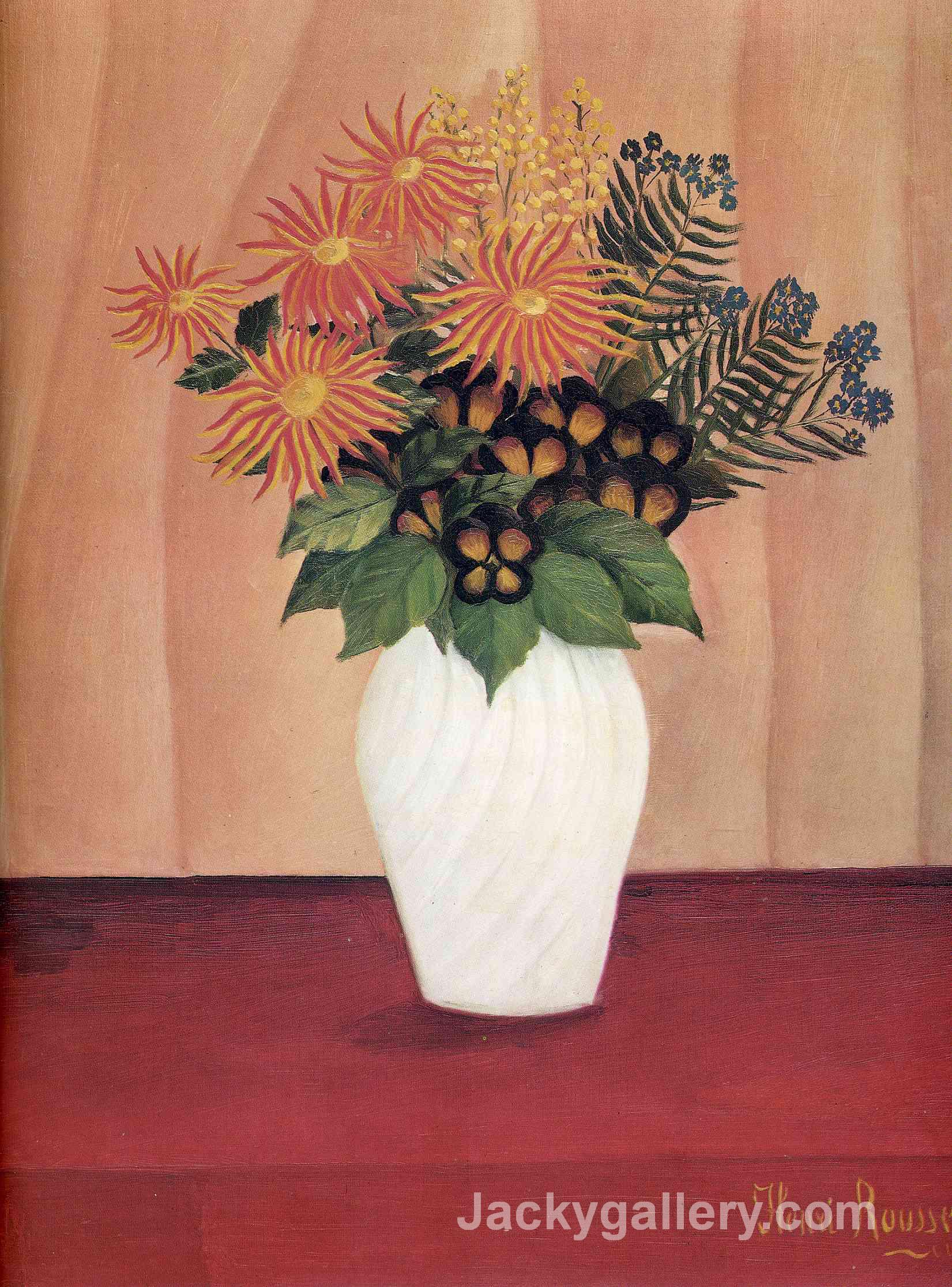 Bouquet of Flowers by Henri Rousseau paintings reproduction
