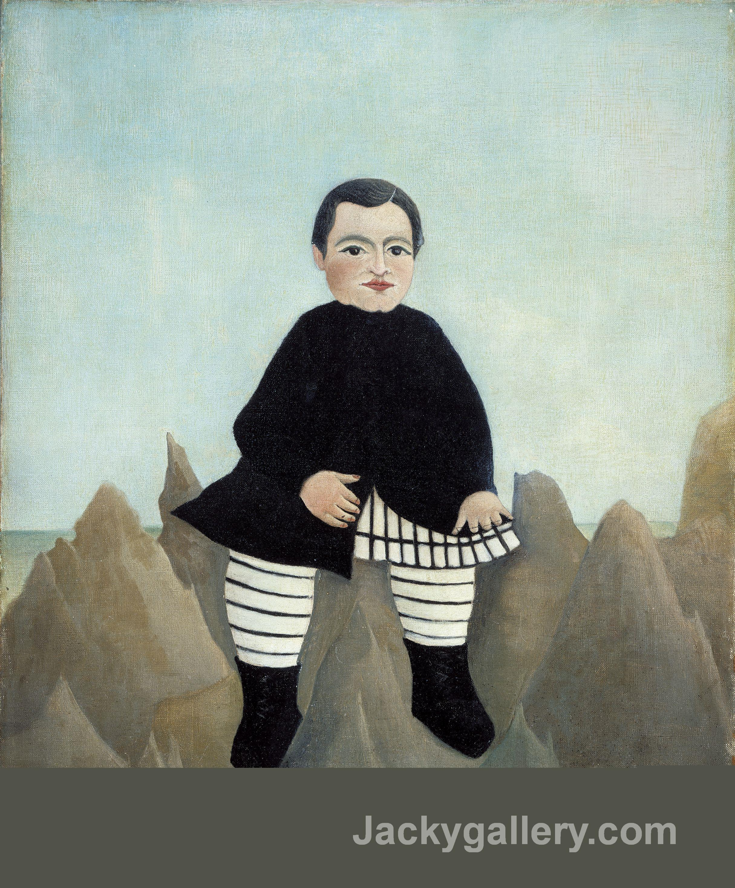 Boy on the Rocks by Henri Rousseau paintings reproduction