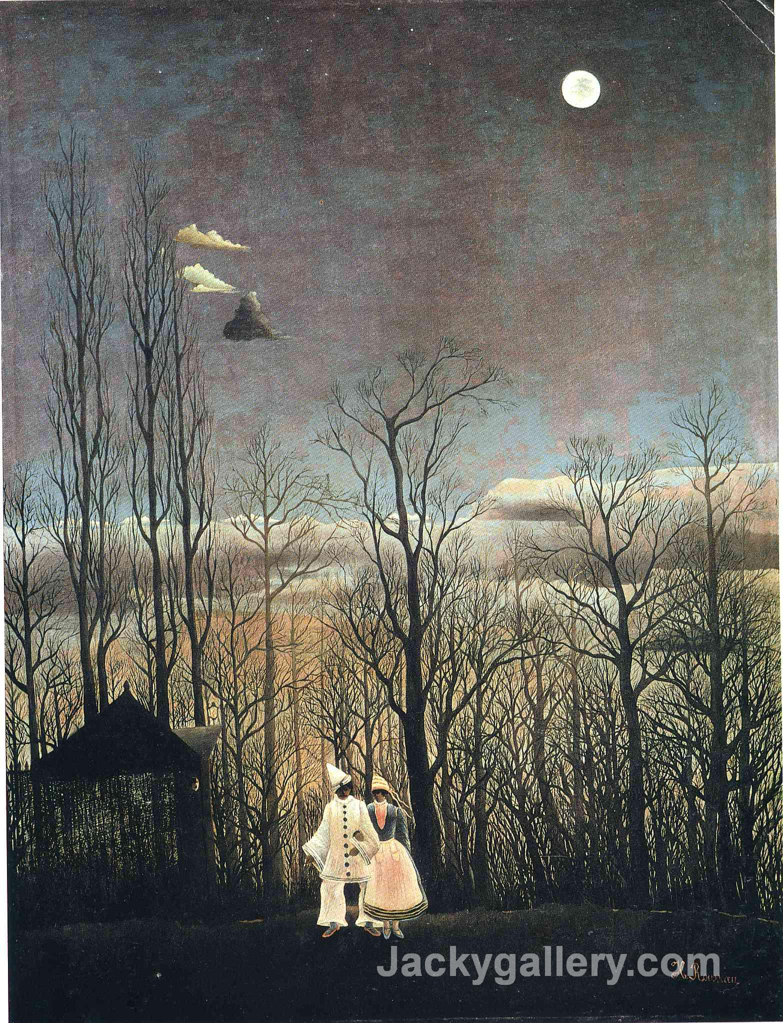 Carnival Evening by Henri Rousseau paintings reproduction
