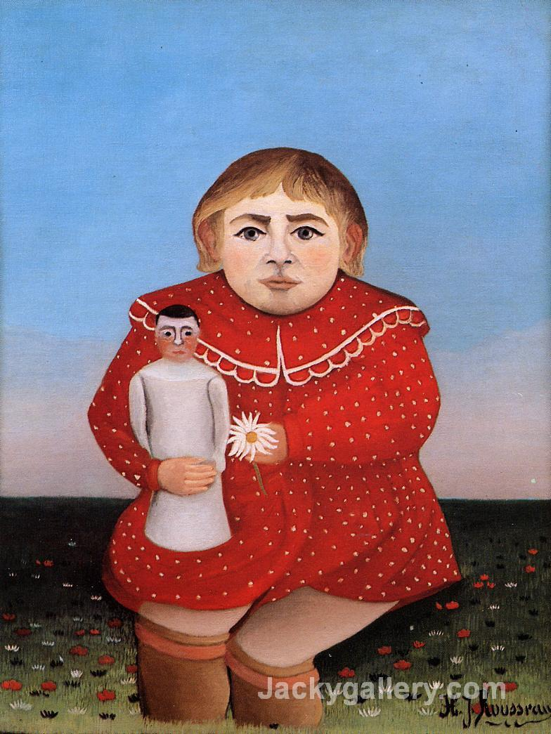 Child with Doll by Henri Rousseau paintings reproduction