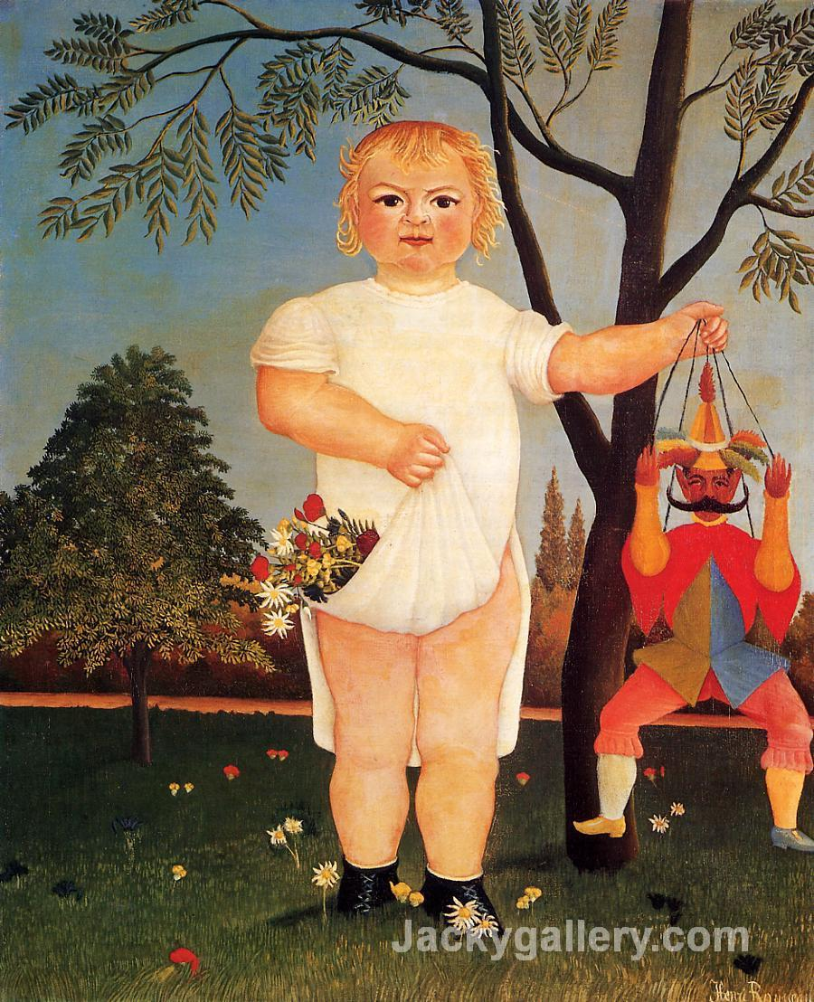 Child with Puppet by Henri Rousseau paintings reproduction