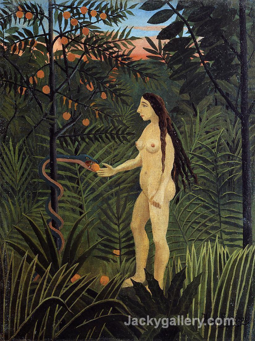 Eve and the Serpent by Henri Rousseau paintings reproduction