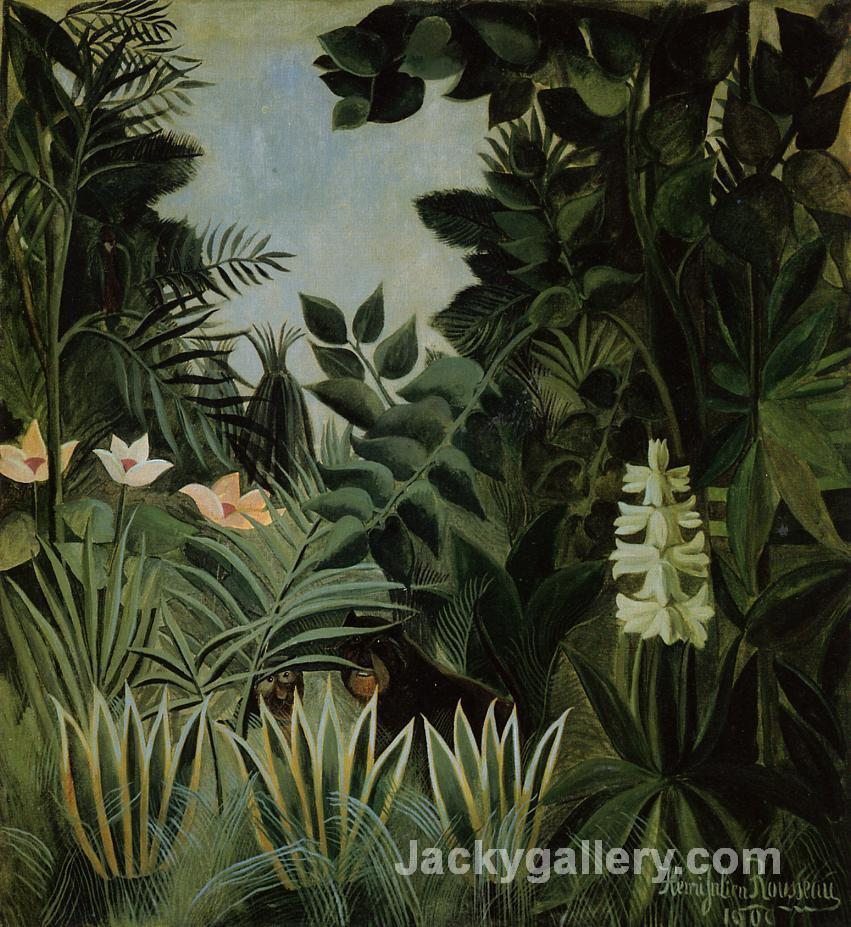 Exotic Landscape 2 by Henri Rousseau paintings reproduction