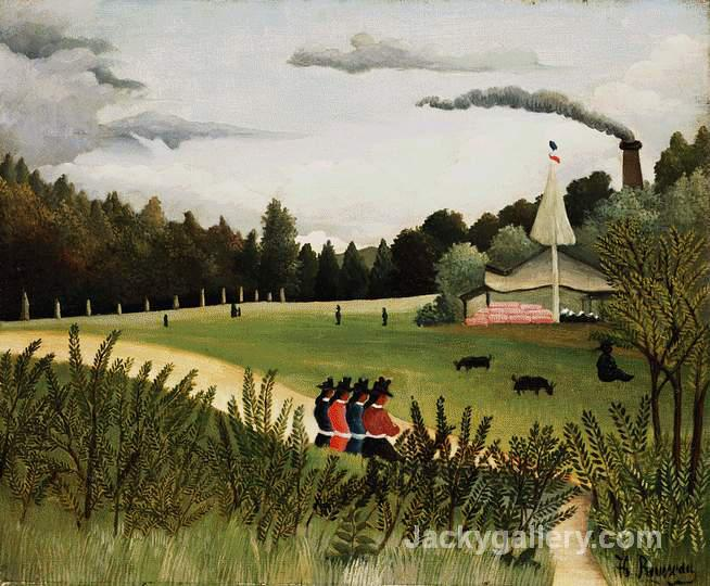 Park with Figures by Henri Rousseau paintings reproduction