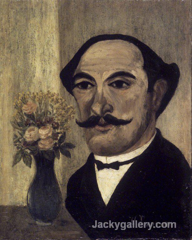 Self portrait by Henri Rousseau paintings reproduction