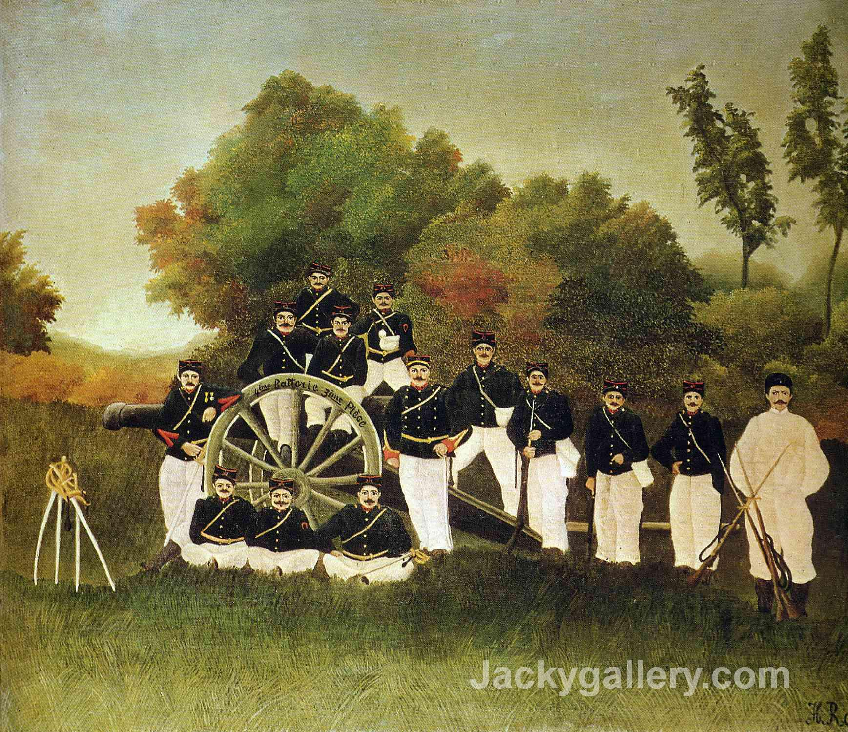 The Artillerymen by Henri Rousseau paintings reproduction