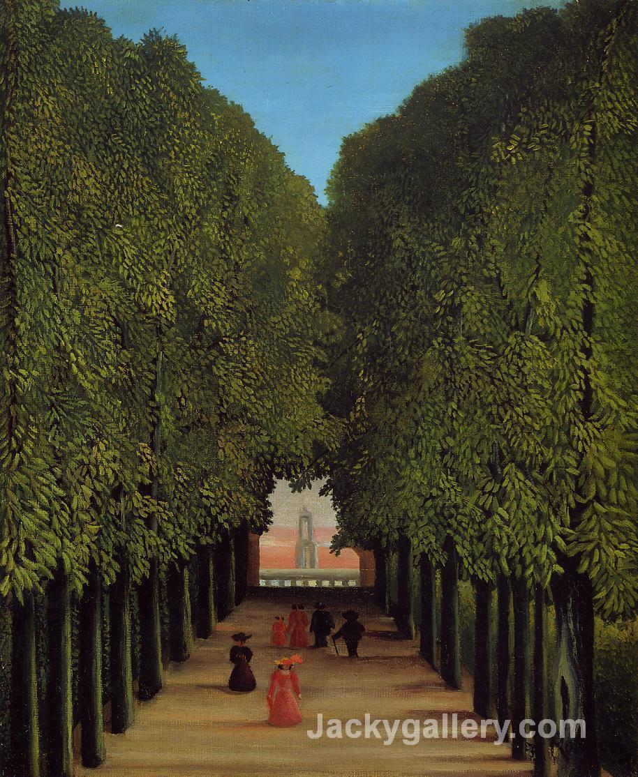 The Avenue in the Park at Saint-Cloud by Henri Rousseau paintings reproduction