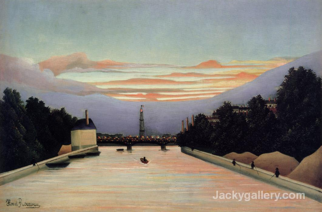 The Eiffel Tower by Henri Rousseau paintings reproduction