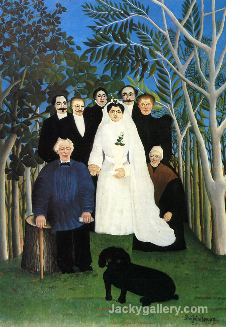 The Wedding by Henri Rousseau paintings reproduction