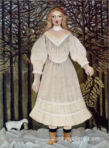 The young girl-95 by Henri Rousseau paintings reproduction