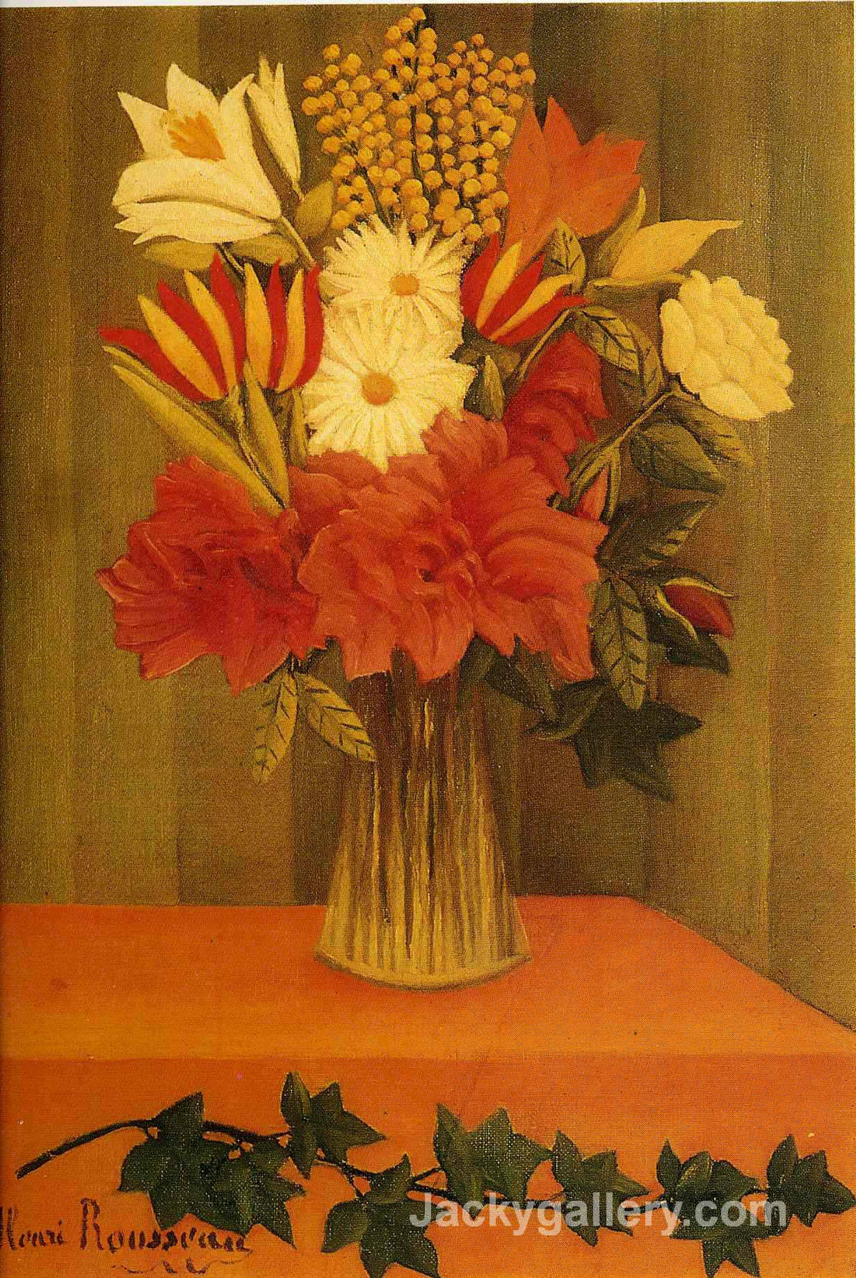 Vase of Flowers by Henri Rousseau paintings reproduction