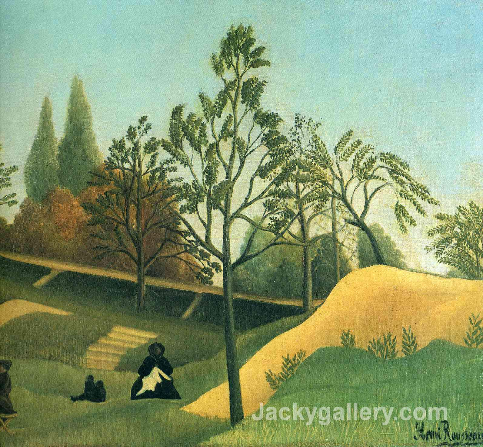 View of the Fortifications by Henri Rousseau paintings reproduction