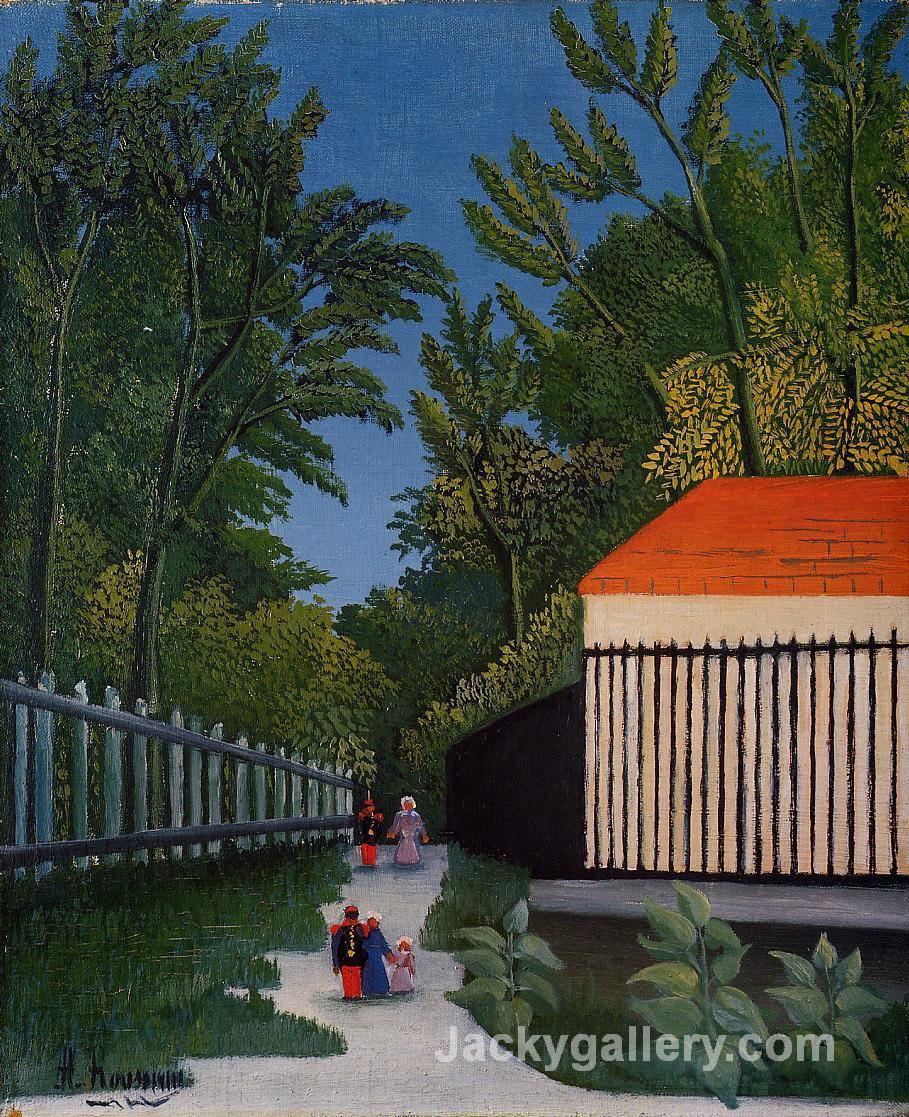 Walking in the Parc Montsouris by Henri Rousseau paintings reproduction
