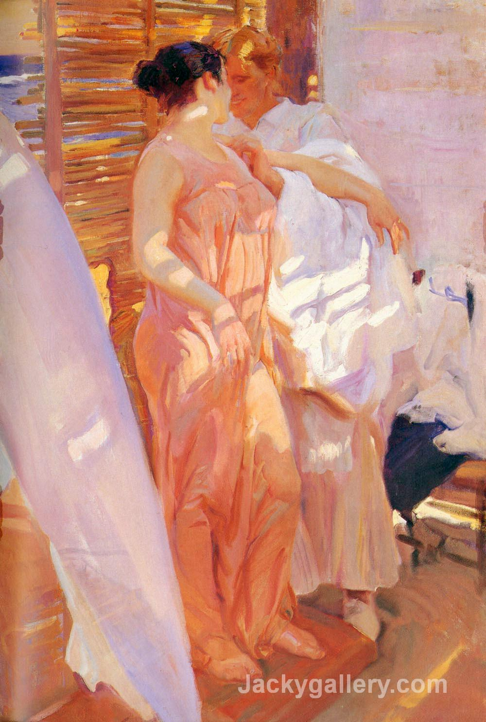 After the Bath by Joaquin Sorolla y Bastida paintings reproduction