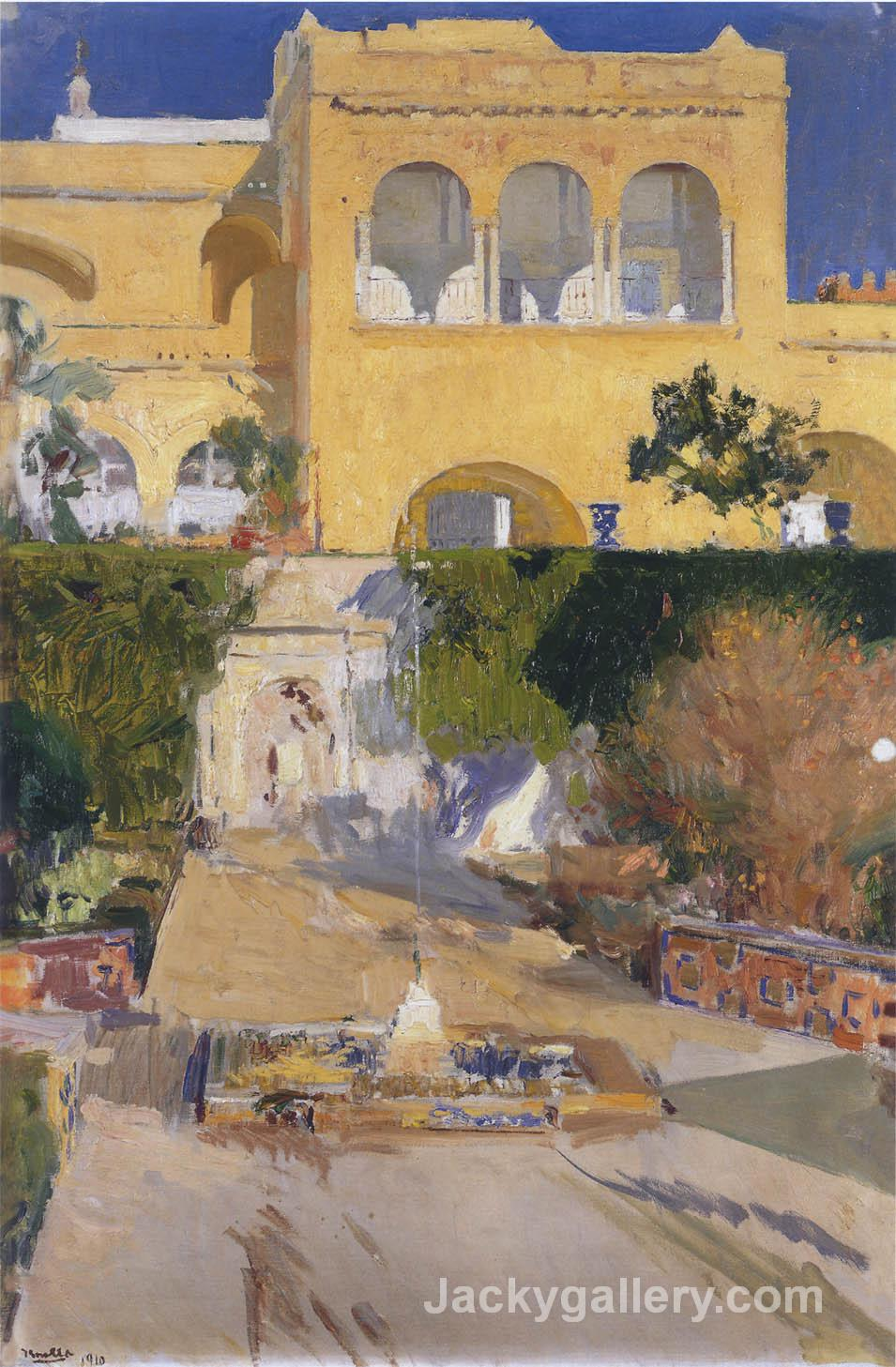 Afternoon sun at the Alcazar of Seville by Joaquin Sorolla y Bastida paintings reproduction
