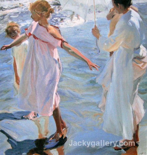 Bathtime, Valencia by Joaquin Sorolla y Bastida paintings reproduction