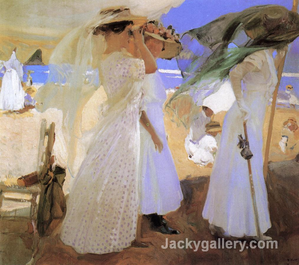 Beneath the Canopy by Joaquin Sorolla y Bastida paintings reproduction