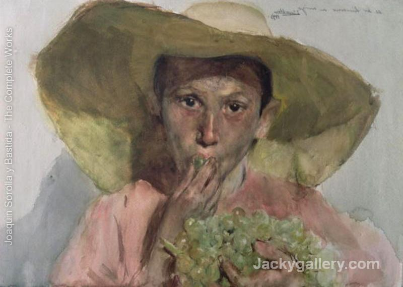 Boy Eating Grapes by Joaquin Sorolla y Bastida paintings reproduction