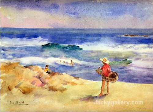 Boy on the Sand by Joaquin Sorolla y Bastida paintings reproduction