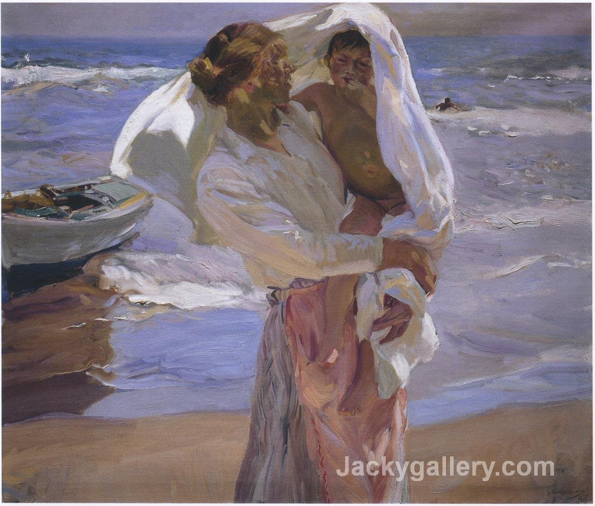 Just Out of the Sea by Joaquin Sorolla y Bastida paintings reproduction