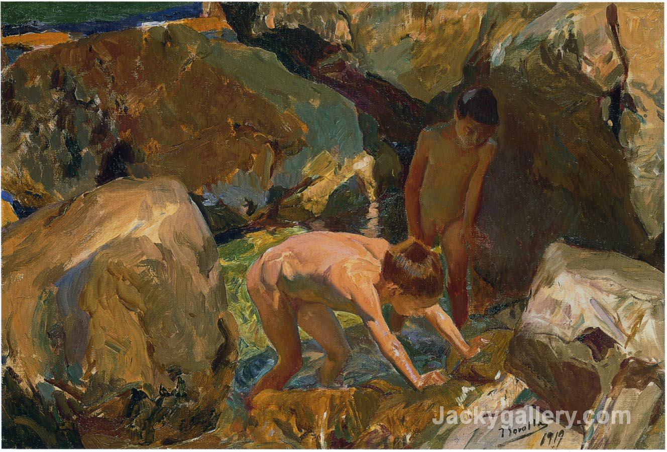 Looking for Shellfish by Joaquin Sorolla y Bastida paintings reproduction