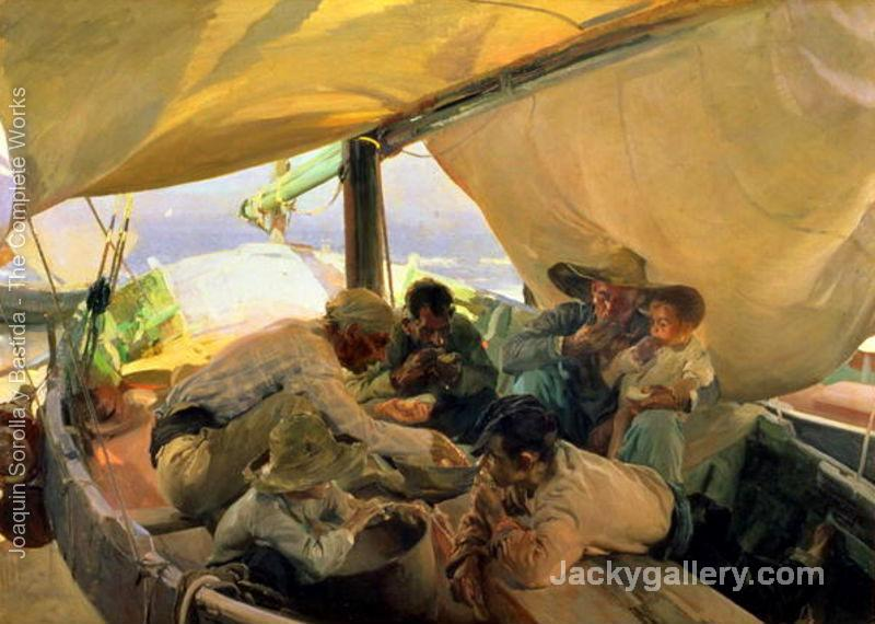 Lunch on the Boat by Joaquin Sorolla y Bastida paintings reproduction
