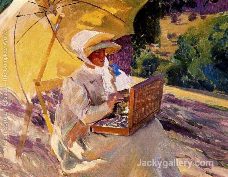 Mary painting at the Pardo by Joaquin Sorolla y Bastida paintings reproduction