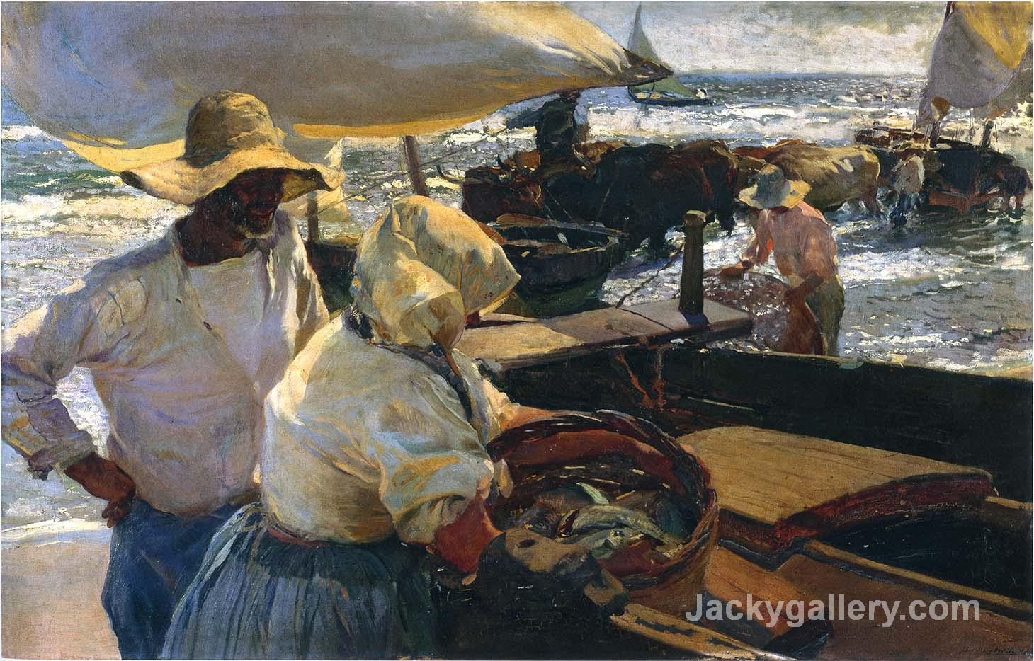 Morning sun by Joaquin Sorolla y Bastida paintings reproduction