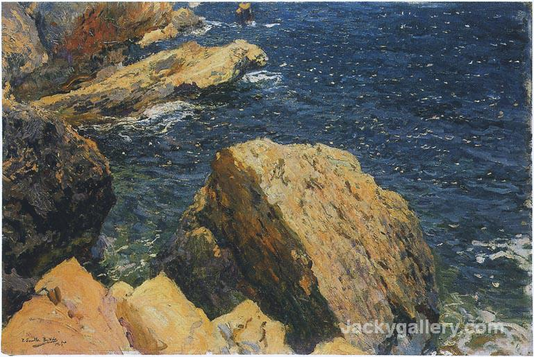 Rocks of the Cape, Javea by Joaquin Sorolla y Bastida paintings reproduction