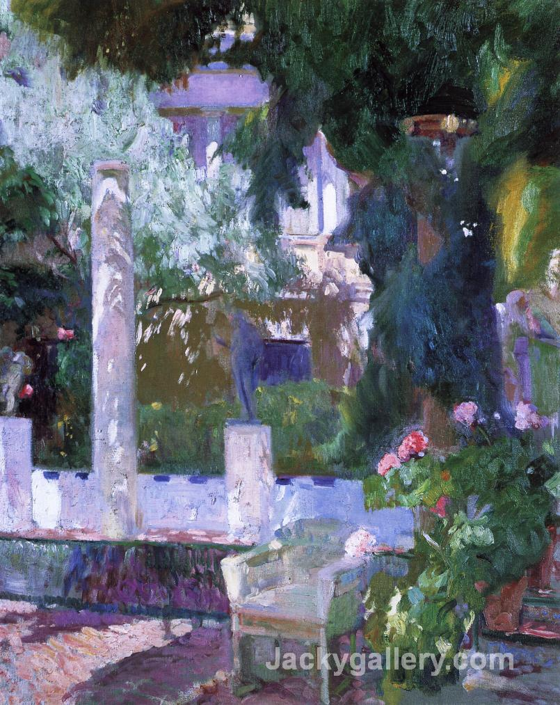 Rose Bush at the Sorolla House by Joaquin Sorolla y Bastida paintings reproduction