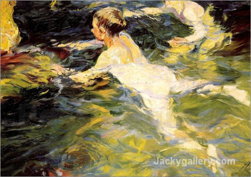Swimmers by Joaquin Sorolla y Bastida paintings reproduction