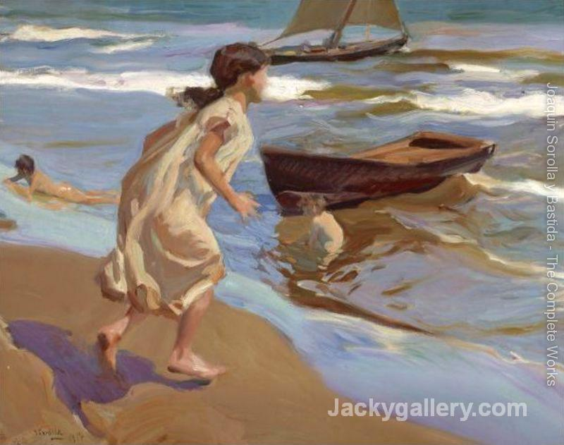The Bathing Hour II by Joaquin Sorolla y Bastida paintings reproduction