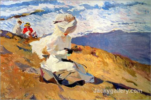 The Beach at Biarritz by Joaquin Sorolla y Bastida paintings reproduction
