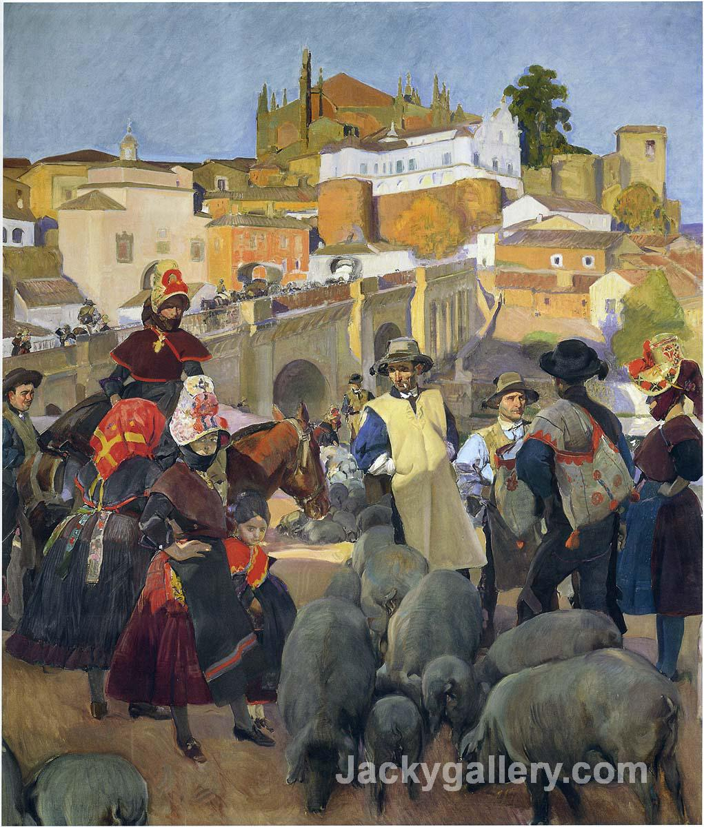 The Market by Joaquin Sorolla y Bastida paintings reproduction