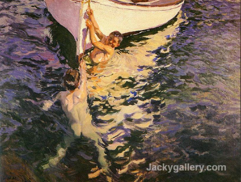 The White Boat by Joaquin Sorolla y Bastida paintings reproduction