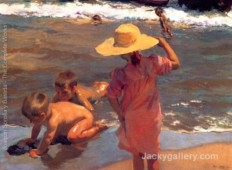 The Young Amphibians by Joaquin Sorolla y Bastida paintings reproduction