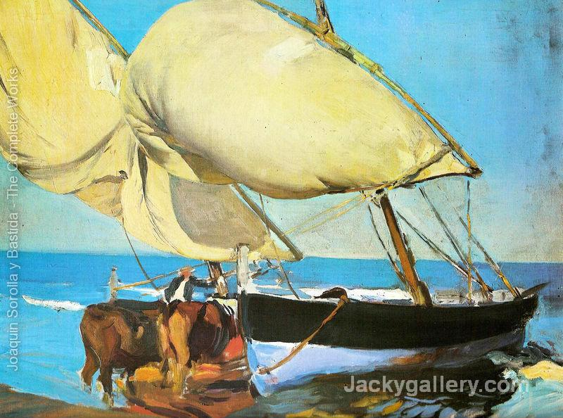 The sails by Joaquin Sorolla y Bastida paintings reproduction