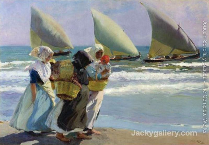 The tree sails by Joaquin Sorolla y Bastida paintings reproduction
