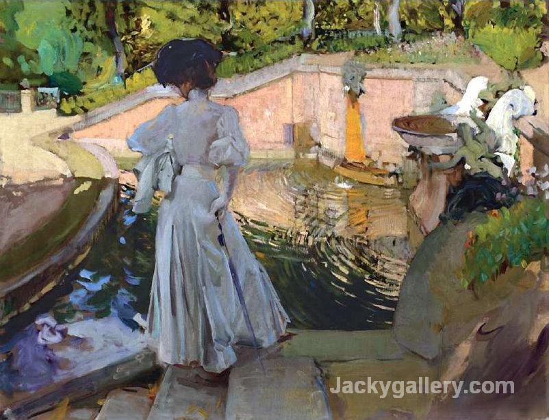Watching the Fish by Joaquin Sorolla y Bastida paintings reproduction
