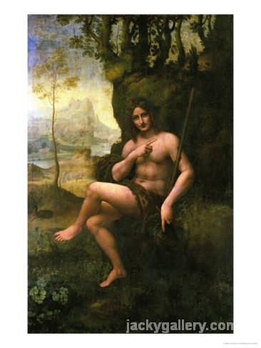 Bacchus, circa, Leonardo Da Vinci's high quality hand-painted oil painting reproduction
