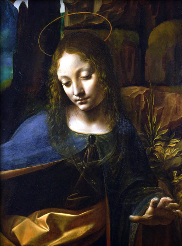 Detail of the Head of the Virgin, from the Virgin of the Rocks By Leonardo Da Vinci