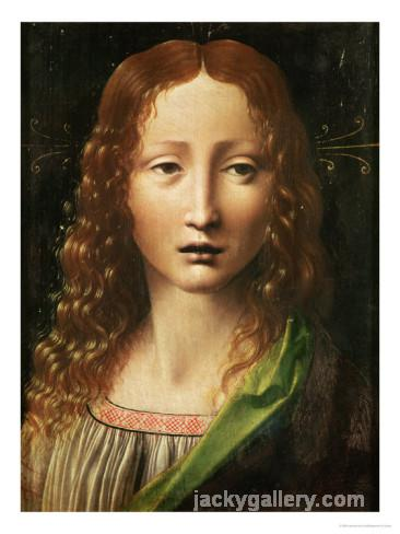 Head of the Saviour, Leonardo Da Vinci's high quality hand-painted oil painting reproduction