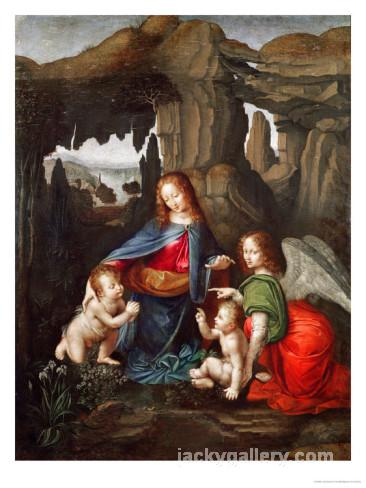 Madonna of the Rocks, Leonardo Da Vinci's high quality hand-painted oil painting reproduction