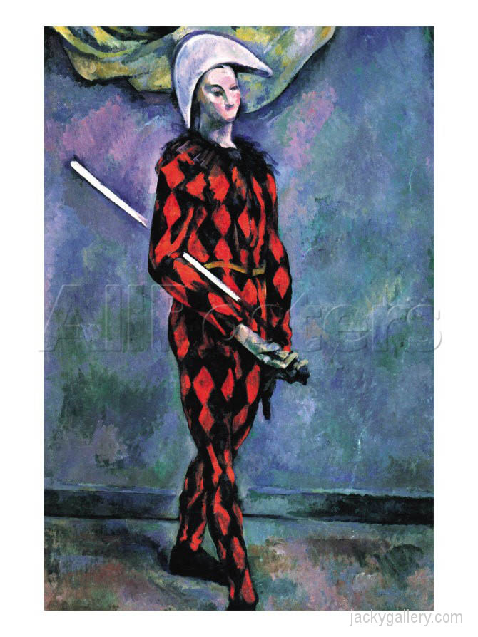 Harlequin By Paul Cezanne