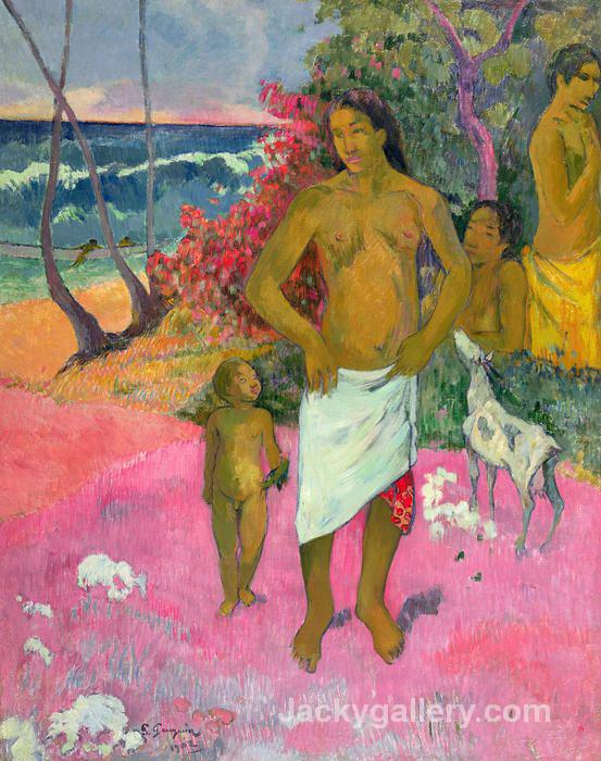 A Walk by the Sea by Paul Gauguin paintings reproduction