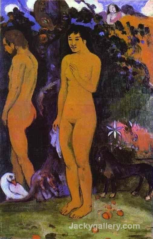 Adam and Eve by Paul Gauguin paintings reproduction