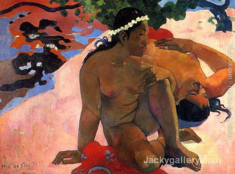 Aha Oe Feii Aka What Are You Jealous by Paul Gauguin paintings reproduction