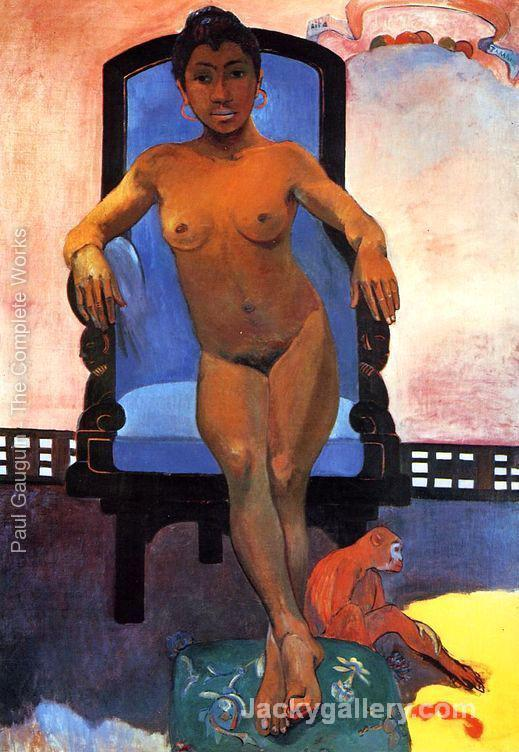 Aita Parari Te Tamari Vahine Judith Aka Portrait Of Annah The Javanese by Paul Gauguin paintings reproduction